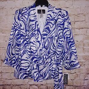 {Alex Evenings} formal wrap blouse